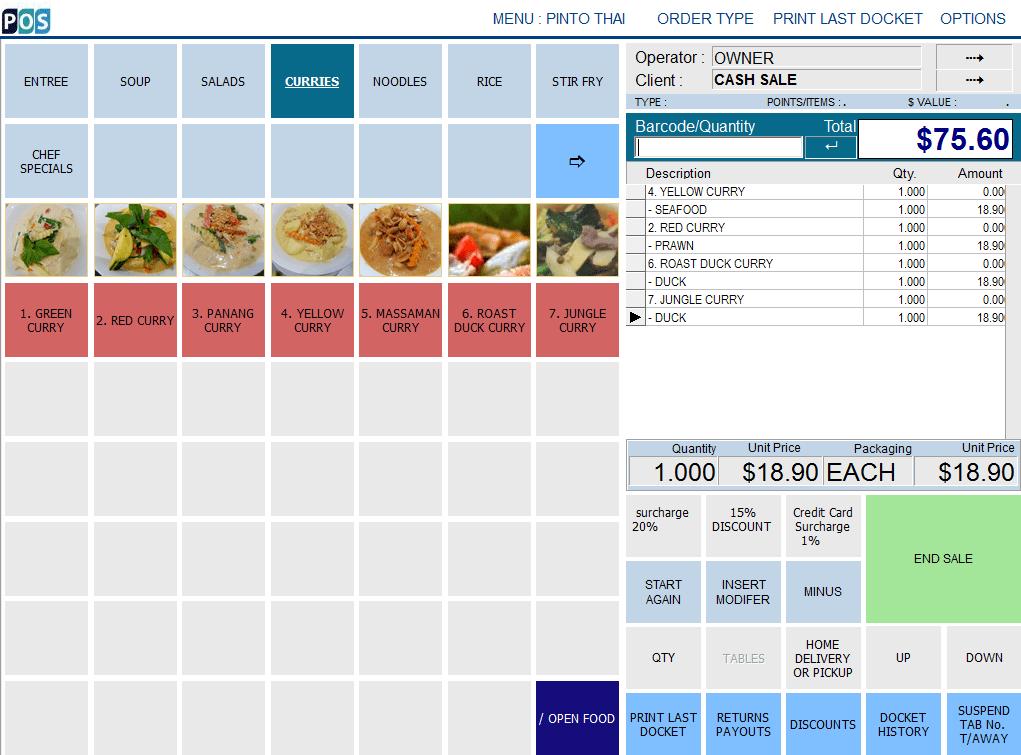 Best Thai Restaurant POS System