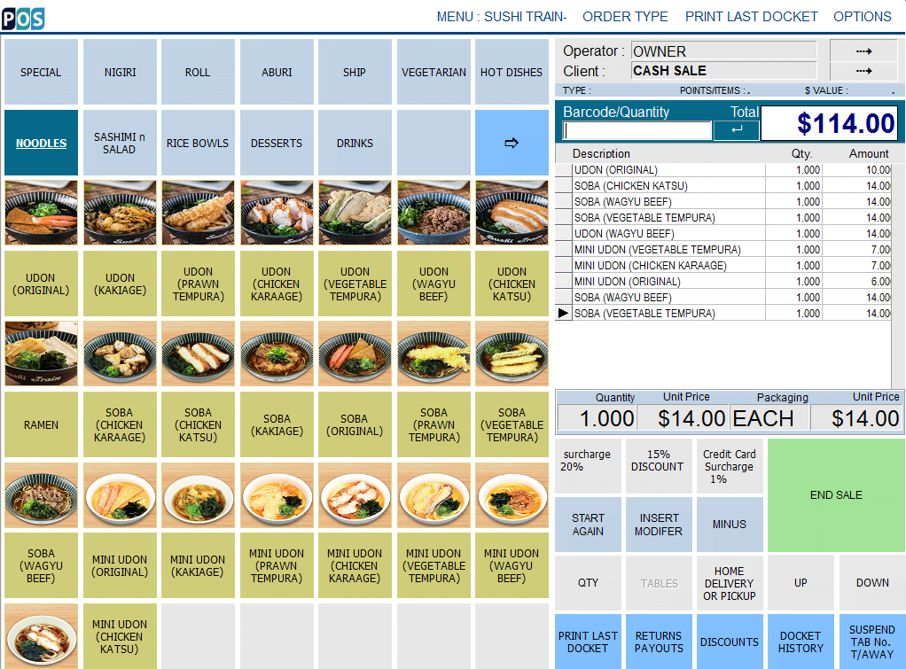 Sushi POS System Sydney