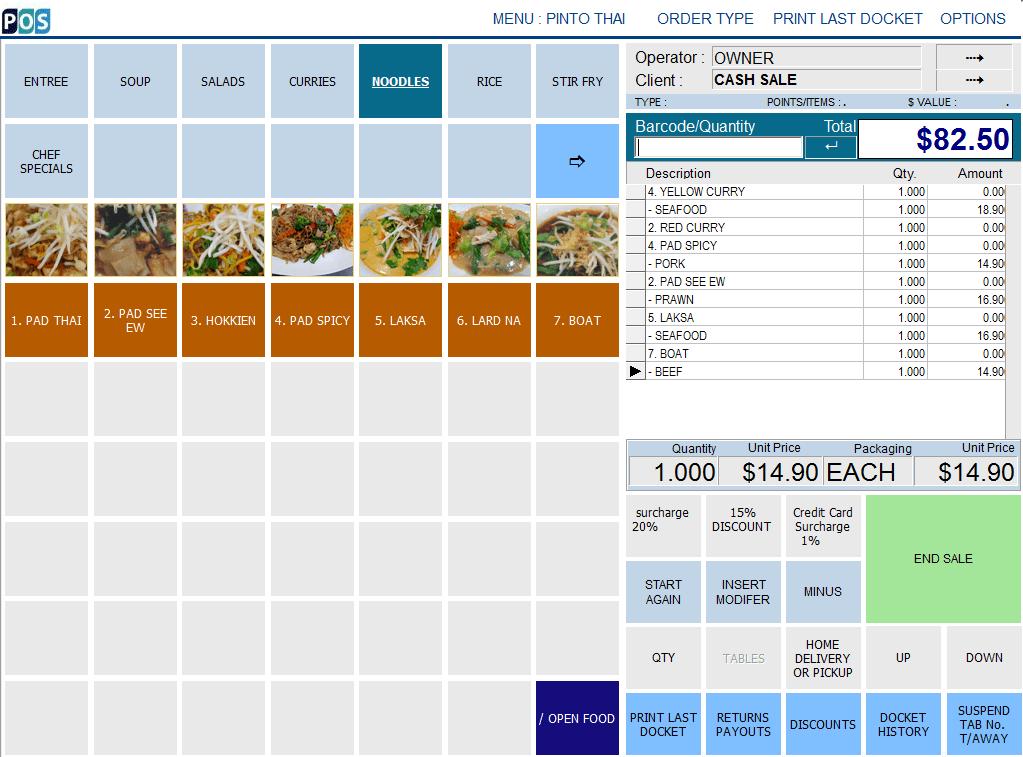 Thai Restaurant POS System