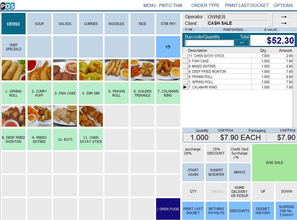 Thai Restaurant Point Of Sale System