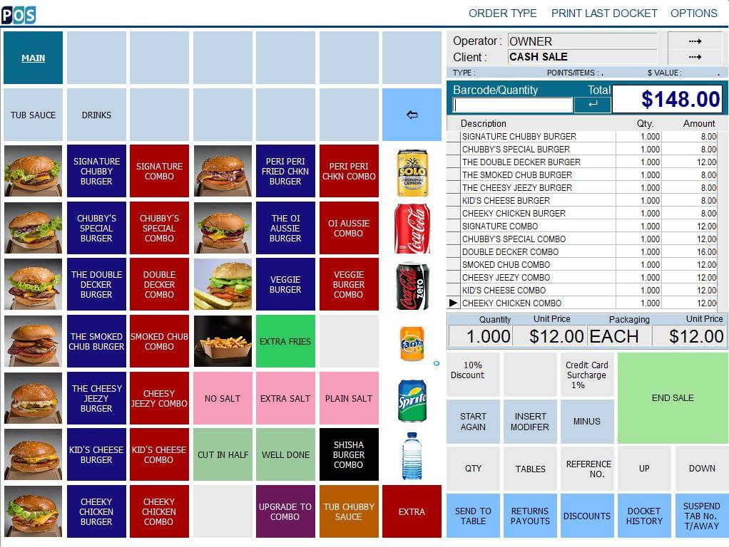 burger shop pos software burgers