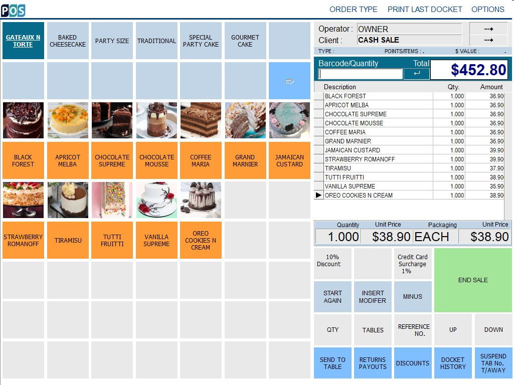 cake shop pos software gateaux and torte