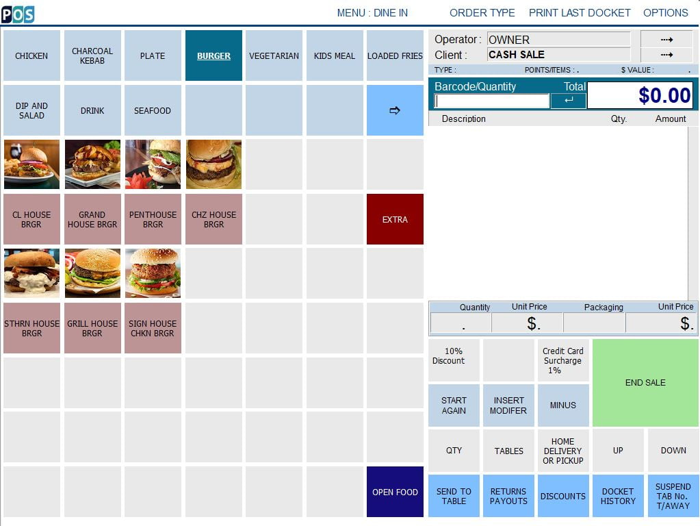 charcoal chicken shop pos software burger