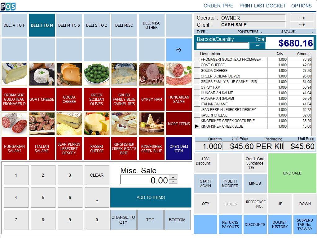 continental delicatessen deli pos software olive and salami