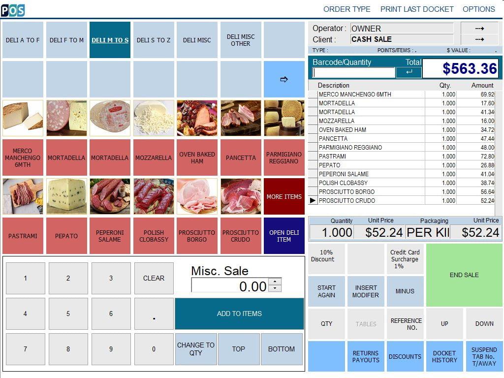 continental delicatessen deli pos software pastrami salam