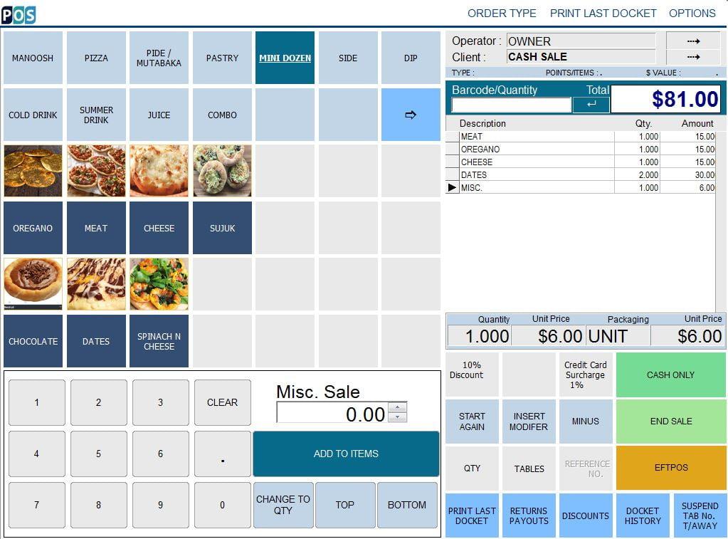 pizza shop restaurant pos software pizza mini dozen