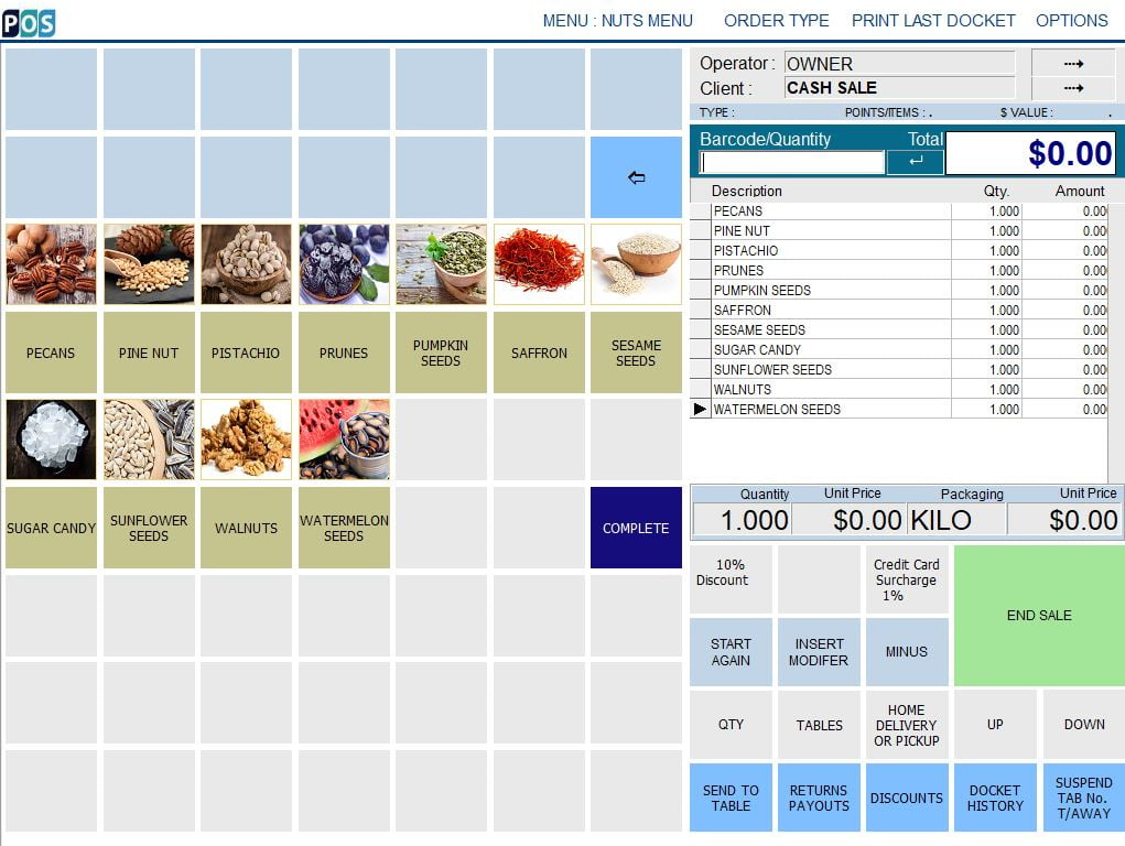 spice and nut shop pos software pecans