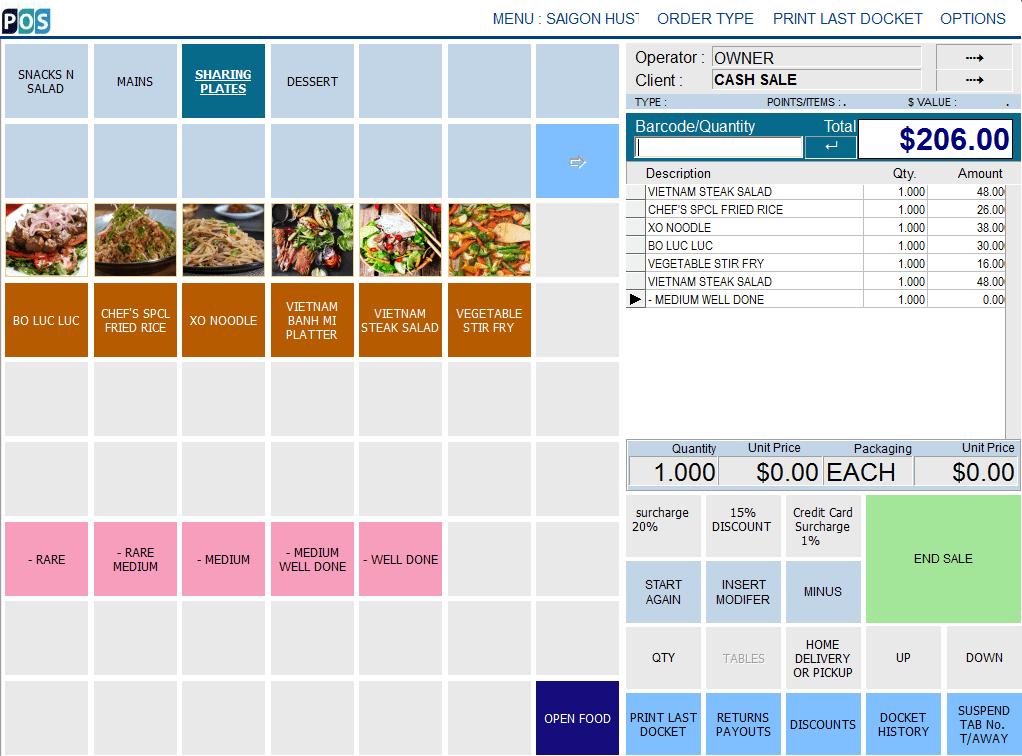 vietnamese restaurant pos software sharing plates