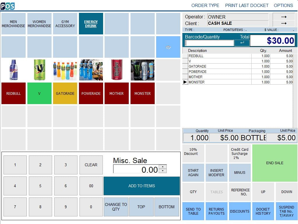 gym fitness management pos system software drink
