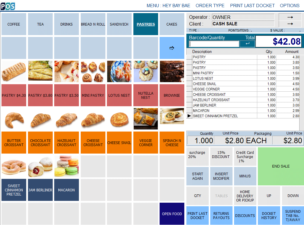 patisserie pastry shop pos software pastry
