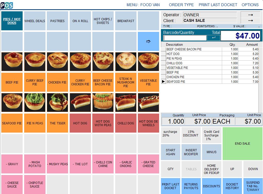 patisserie pastry shop pos software pie hotdog