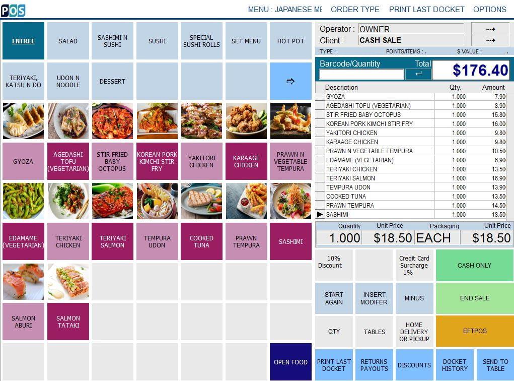 japanese restaurant pos software sashimi and sushi