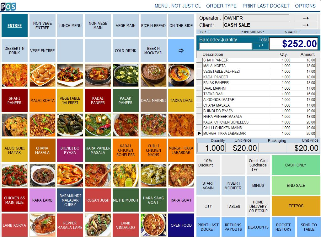India Restaurant POS Software Indian Curries